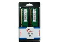 G.SKILL 4GB (2 x 2GB) 240-Pin SDRAM DDR2 800 (PC2 6400) Dual Channel Kit Desktop Memory F2-6400CL5D-4GBNT