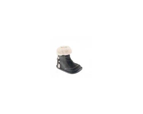 Jack & Lily Back Lace Boot - Brown (24-30 months) Baby (Jack And Lily Girl Shoes compare prices)