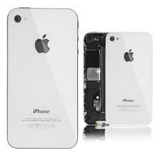 iPhone 4S Glass Back Cover Rear OEM White Full Assembly image