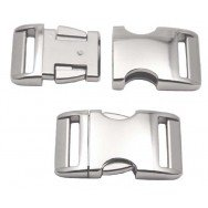5 - 1 Inch Aluminum Side Release Buckles