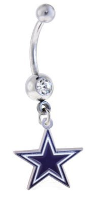 Dallas Cowboys NFL Sexy Belly Navel Ring at Amazon.com