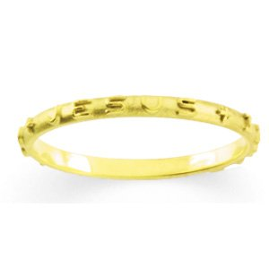 14K Yellow Gold Jesus I Trust In You Ring - (Size 5.5)