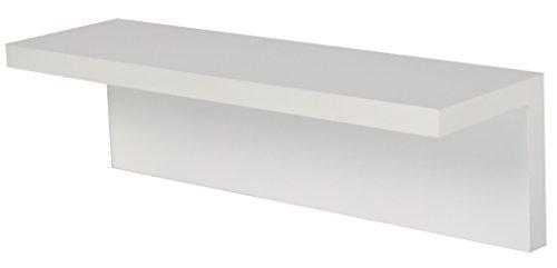 STARPLATINUM 壁掛け 収納 シェルティシリーズ 【 ホッチキスで止めるだけ 】 壁美人 【 傷跡目立たない 】 L字 シェルフ ホワイト