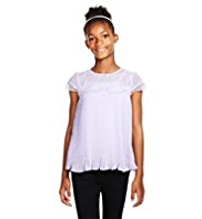 Autograph Lace Pleated Lightweight Top with Camisole