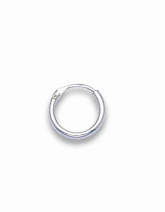 Men's SINGLE Sterling Silver 10 mm SMALL hinged Hoop Earrings 10mm x 1.4mm - Beware 10mm is SMALL & FIDDLY to use, search for 6225 or 6226 if you need bigger. Shipped in good quality silver box by 1st class mail.