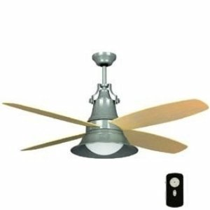 Craftmade UN52GV Union 52 Inch Ceiling Fan, Galvanized Motor with Light Oak Blades and integrated CFL Light Kit