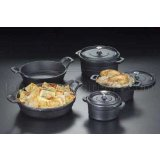 American Metalcraft Cast Iron Oval Casseroles and Pots Black