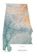 Oregon Topographic Wall Map