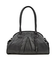 M&S Collection Leather Diamond Cut-Out Tassel Bag