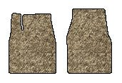 Ford E-150 Econoline Club Wagon Berber Floor Mats 2 Pc Fronts - Taupe (1985 85 1986 86 1987 87 1988 88 1989 89 1990 90 1991 91 ) AMSUTU8904GLSXH