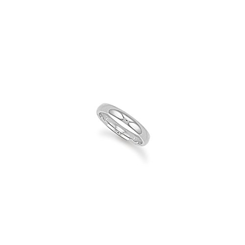 9ct White Gold 3mm Court Wedding Band Ring