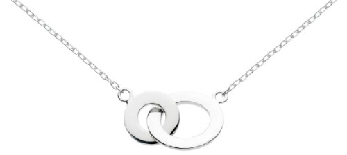 Dew Womens Sterling Silver Linking Circles Necklace