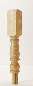 Ash 91mm Newel Turning 202mm Head