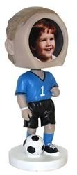 Male Soccer Photo Bobble Head