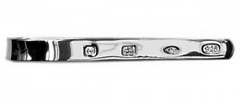 Spread Hallmark Heavy Silver Tie Bar