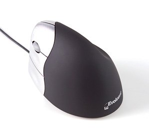 Evoluent right hand vertical computer mouse with 5 programmable buttons and ergonomic design, EACH