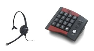 Work At Home Agent Combo - Smith Corona Classic Ultra Monaural Headset With Hp100 Dial Pad - Call Center Agents