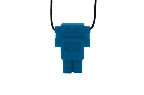 Jellystone Robot 13 Pendant Teether Kids Necklace - Blue Hawaiian (Jellystone Robot Teether compare prices)