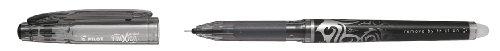 Pilot FriXion - Bolígrafo roller de gel de tinta borrable (3 unidades), color negro