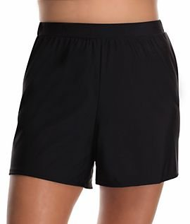 Creative Beach Belle Navy Loose HighWaist Swim Shorts  Women Amp Plus  Zulily