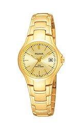 Pulsar Bracelet Date Gold-tone Dial Women's watch #PXT906