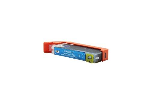 Officehandel Tinte (cyan, Inhalt 12 ml) ersetzt Canon 6444B001 / CLI-551CXL für Canon Pixma IP 7250, MG 5450, MG 6350, MX 725, MX 925