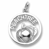 Peachtree Peach Charm in Sterling Silver