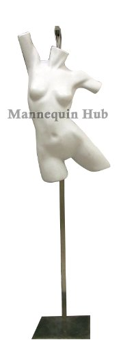 New Gray Female Torso Mannequin Form With Heavy Duty Steel Base Active Style Form