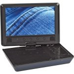 New Audiovox 9 Inch Widescreen Portable Dvd Player Swivel Display Built-In Stereo Speakers