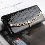 Best 2014 Fashion women's purses PU Leather evening bag Lady wallet Day long design women wallets