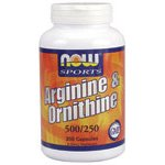 NOW Foods L-arginine/ornithine, 250 Capsules