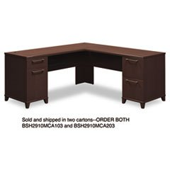 "** 72""W x 72""D L-Desk (B/D, F/F) Box 1 of 2 Enterprise: Mocha Cherry **"