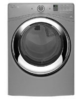 WHIRLPOOL WASHERS & DRYERS 2490343 Duet 7.3 cu.ft. Front Load Electric Steam Dryer, Chrome Shadow, 9 Cycles (Whirlpool Washer Dryer compare prices)