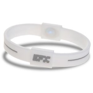 EFX Silicone Sport Bracelet, 8-Inch, White/Cool Grey