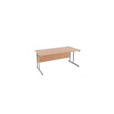 Plus Cantilever Rectangular Desk Size: 73cm H x 120cm W x 80cm D, Colour: Beech
