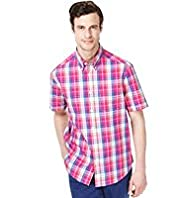 Blue Harbour Supersoft Pure Cotton Multi Checked Shirt