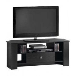 TV Stand Corner Entertainment Unit Black Ash 1 Drawer Bourne Black Friday & Cyber Monday 2014