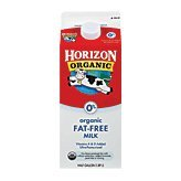 1 CASE Horizon Organic Fat Free Milk, 1/2 Gallon 6 per case (742365264054)