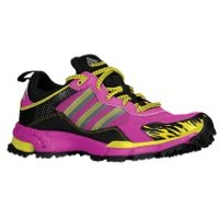 adidas Womens Response Trail Rerun 5 M US Vivid Pink/Neo Iron Metallic/Vivid Yellow