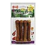 Nylabone Puppy Edibles Turkey & Sweet Potato Healthy Edibles Dog Chews 4 Count