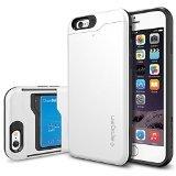 【Spigen】 iPhone6s ケース, スリム・アーマーCS [IC カード1枚収納可能/電磁波干渉防止シート1枚] アイフォン6s / 6 用 (シマリー・ホワイト SGP10965)