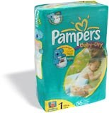Pampers Baby Dry Diapers Jumbo Pack, Size 1, 224 Count