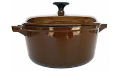 Fancycook Enamel Cast Iron Coffee Round Dutch Oven 4 1/4-Qt. Close Out. front-619724