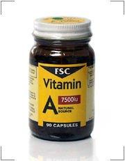 FSC Vitamin A 7500iu 90 Capsules