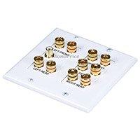 Datacomm 45-0060 5.1 Surround Sound 2-Gang Plate (White)