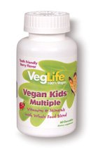 VegLife - Vegan Kids Multiple Berry - 60 Chewable Tablets - 1