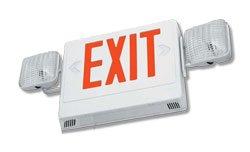 Simkar Scli1R-W - Combo Led Exit Light And Emergency Light