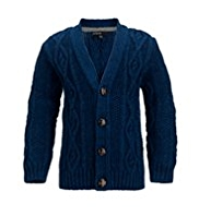 Autograph Cable Knit Cardigan with Wool