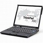 レノボ・ジャパン ThinkPad X60 (T72/1G/120/XP/12TFT)T 1709GDJ