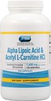 Vitacost Alpha Lipoic Acid & Acetyl L-Carnitine HCl -- 1,600 mg per serving - 240 Capsules